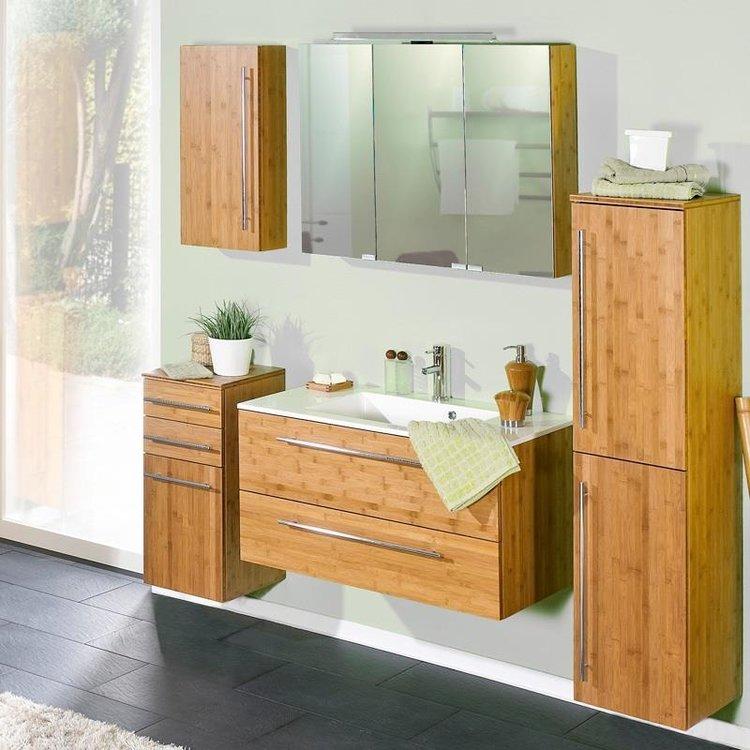 Badezimmermöbel im asiatischen Stil aus Bambus massiv