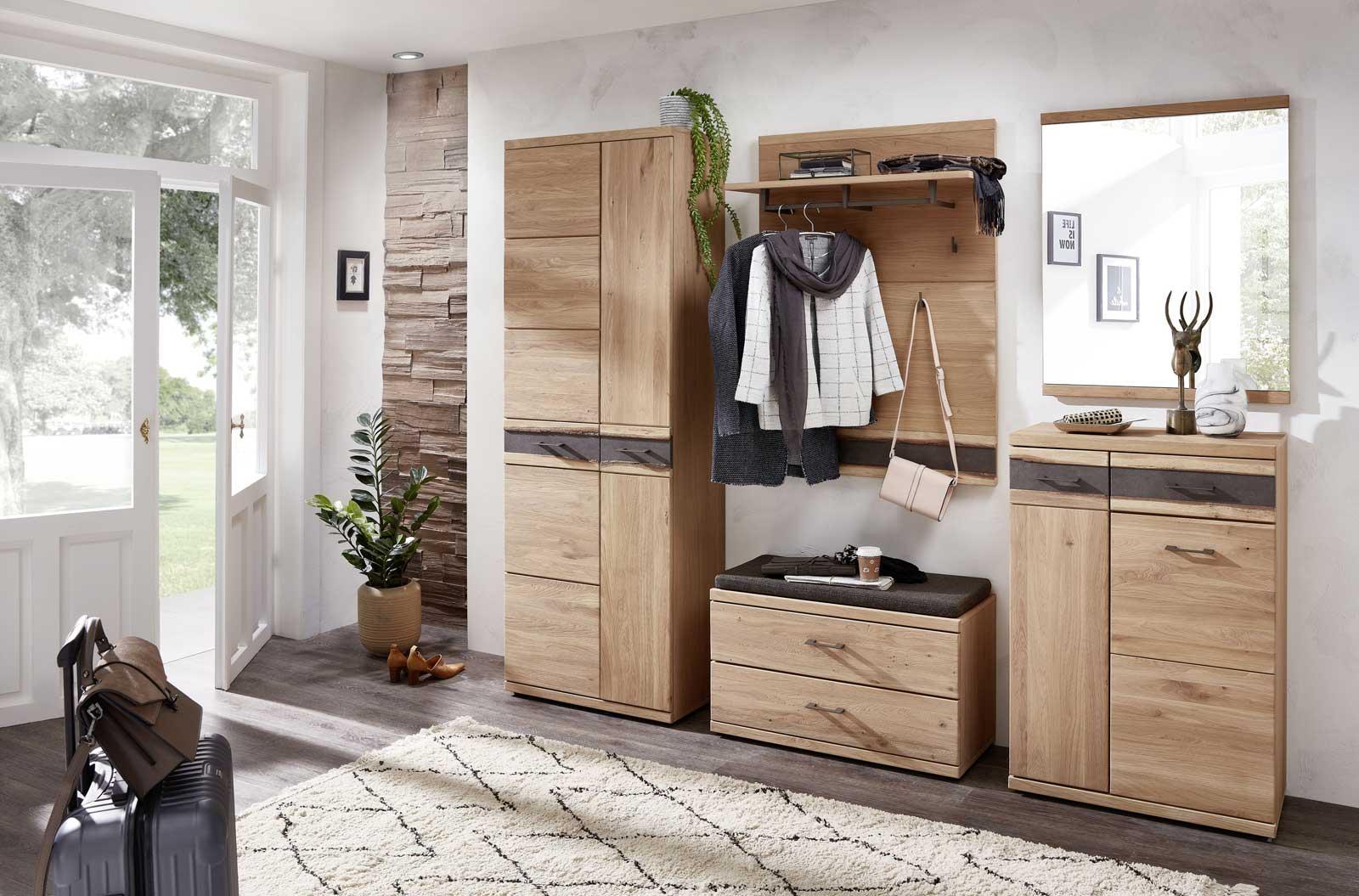 Gemütliches Garderoben-Set aus Massivholz Cambs-36