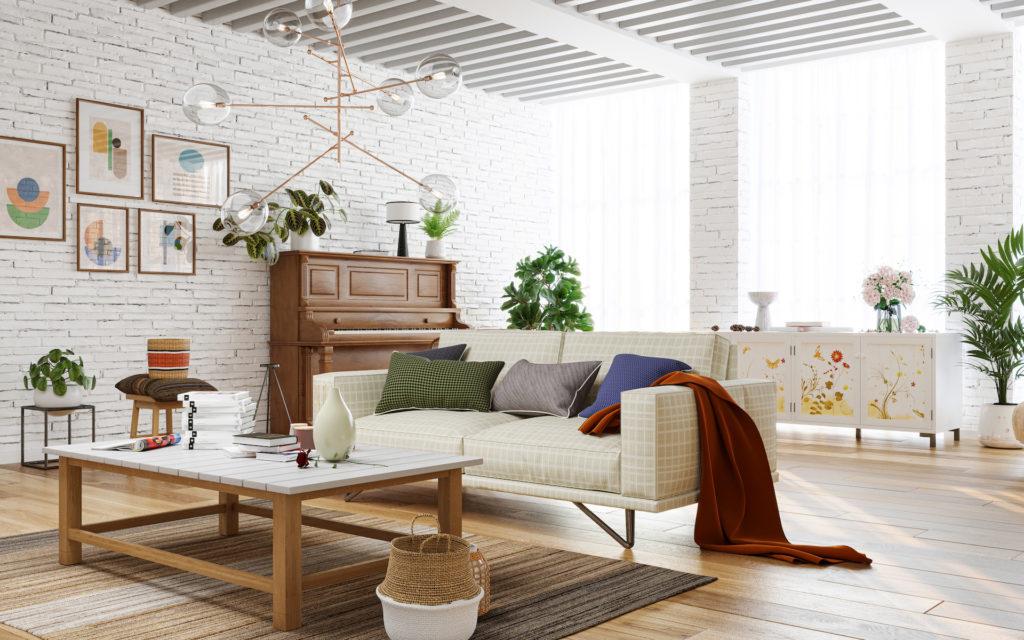 Offener Wohnbereich mit Retro Charme
