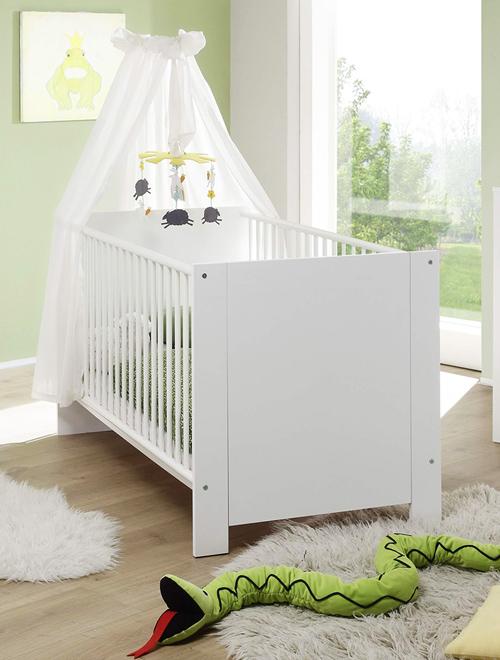 Weißes Babybett der Serie OLBIA-19